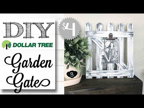 DIY Dollar Tree Garden Gate | $4 00 PROJECT! - YouTube #dollartreecrafts