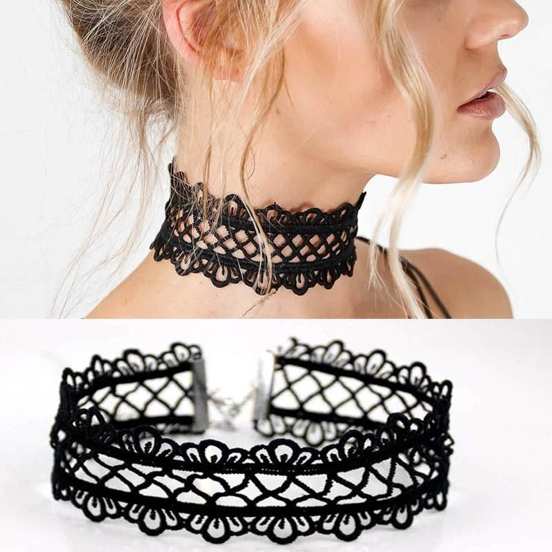 hollow out lace black choker necklace  #necklace #choker #fashion #sunglasses #jewelry #watches #trending