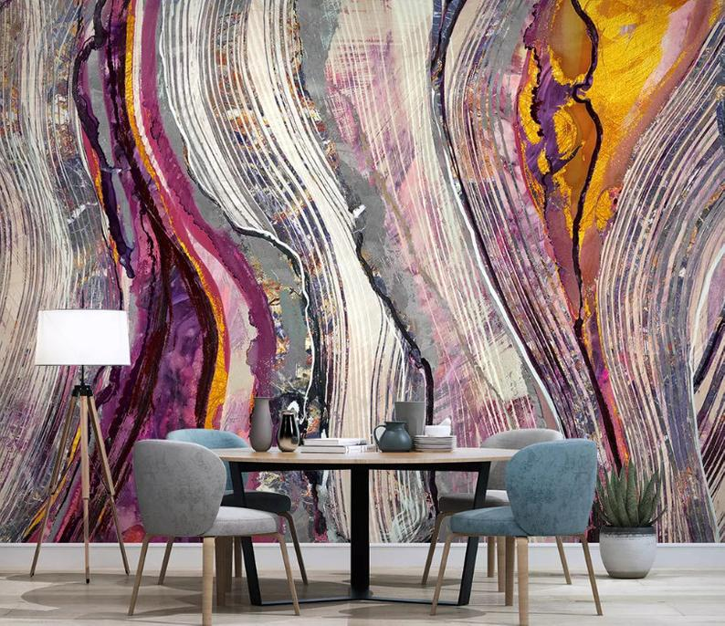 3d Abstract Flowing Sand Wallpaper Removable Self Adhesive Wallpaper Wall Mural Vintage Art Peel And Stick Mural Wallpaper Wall Murals Removable Wallpaper