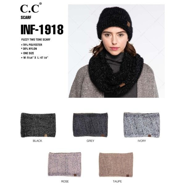 a89d3dd6b33 Wholesale C.C two tone scarf style INF-1918.