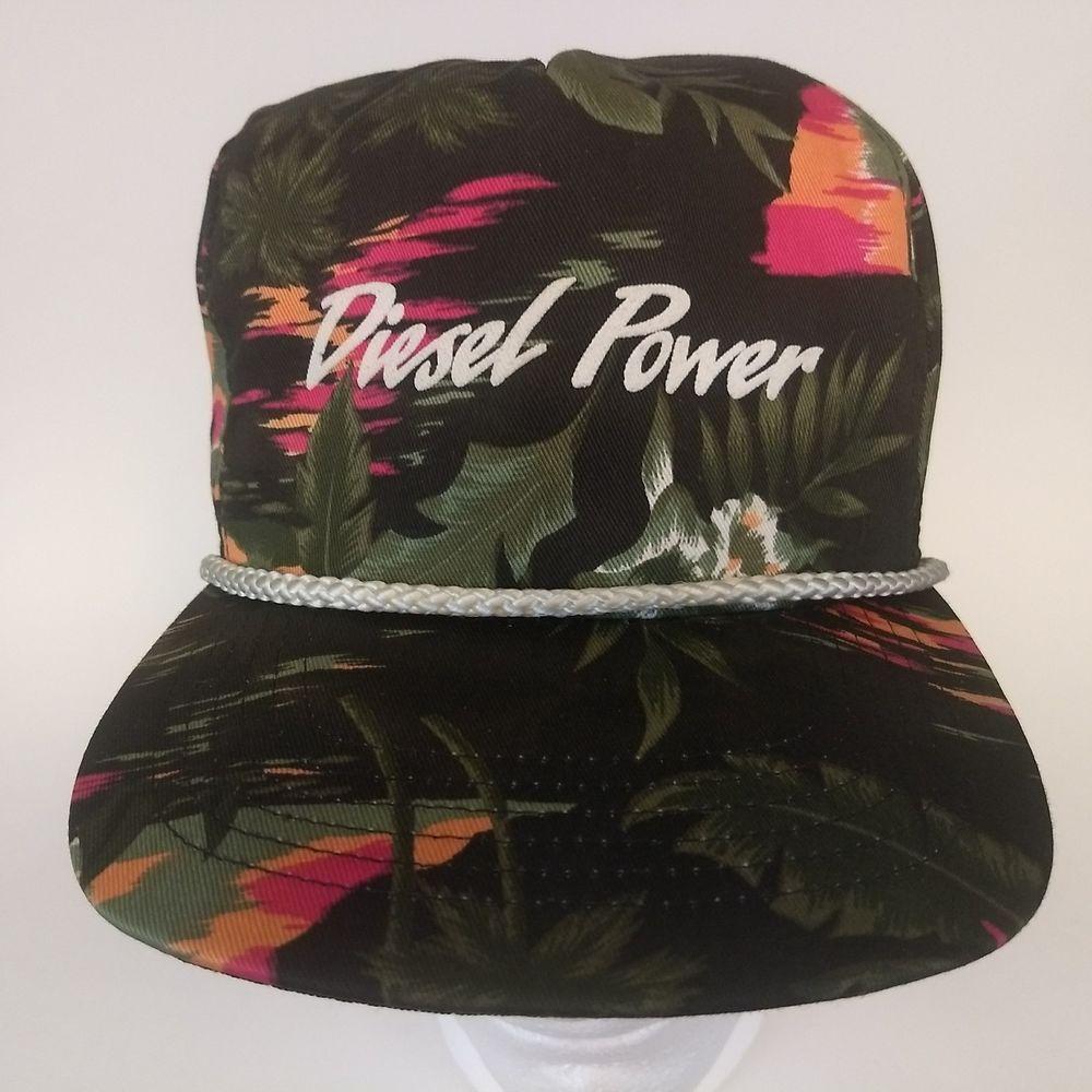 Diesel Power Cat Caterpillar Snapback Hat Hawaiian