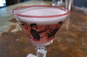 Channel your inner Betty Draper with this Pink Lady cocktail. http://bit.ly/10UewG