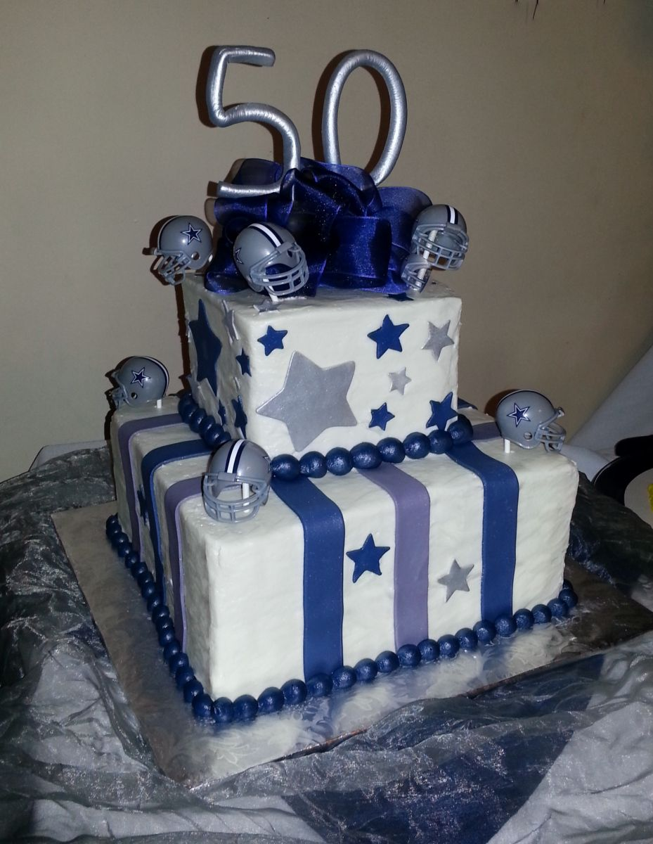 dallas cowboys birthday cake Dallas Cowboys themed 50th birthday