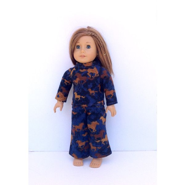 "Horses//Blue Pajamas for 18/"" Doll Clothes American Girl"