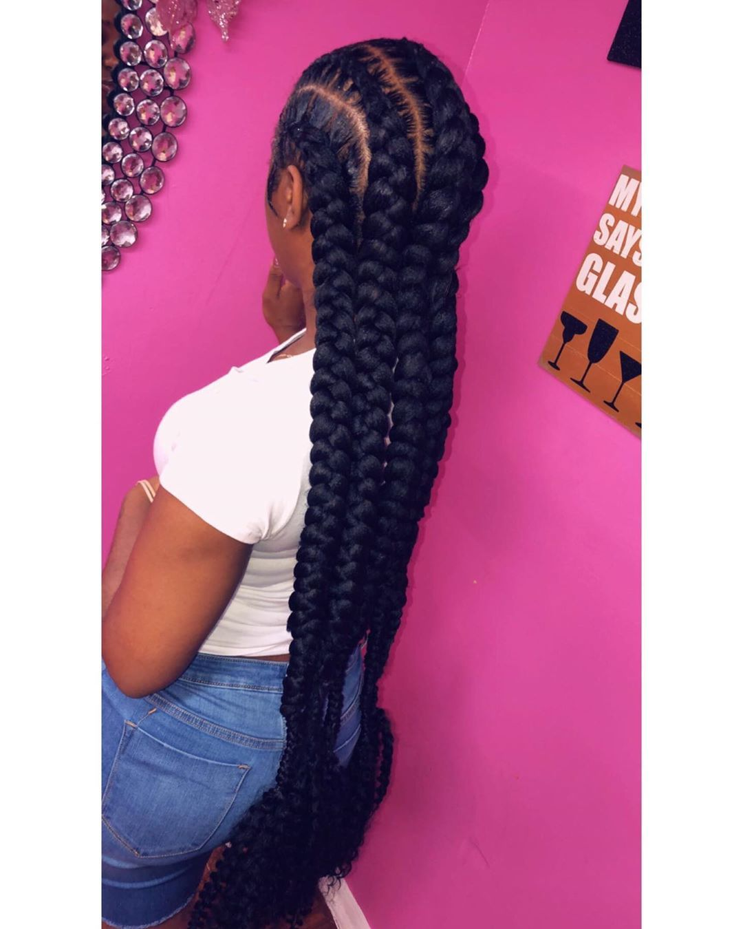 5 Feed Ins Curly Ends Weave Hairstyles Cool Braid Hairstyles Braided Hairstyles