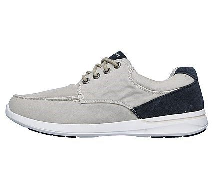 Skechers Men's Relaxed Fit Elent Mosen Boat Shoe 65493 BLK
