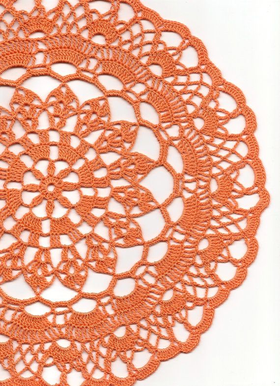 Halloween , Crochet doily, lace doilies, crocheted place mat, center ...