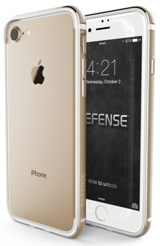 Bumper X-doria Defense Edge iPhone 7 Dorado. Protege tu iPhone manteniendo su aspecto original con mismos colores.