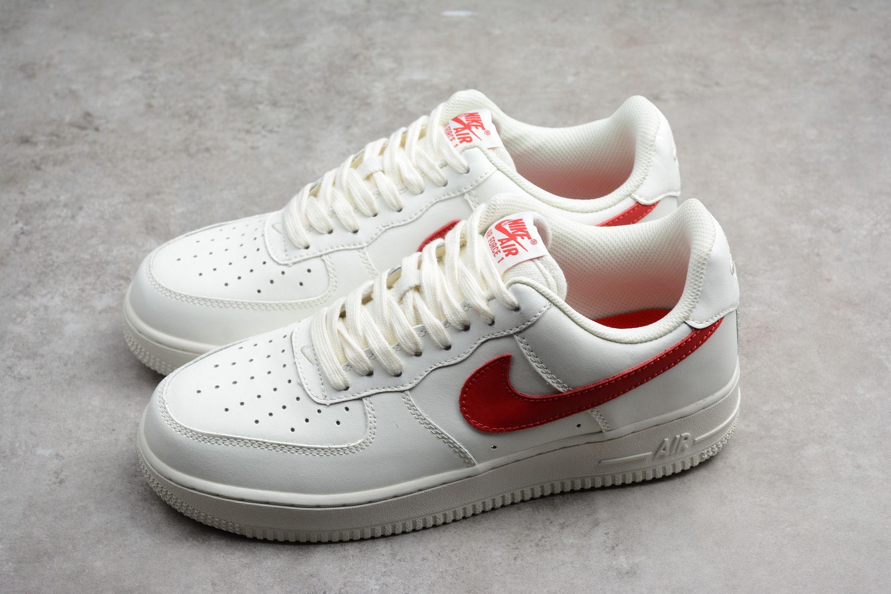 Nike Air Force 1 Low 07 Sail University Red 315122 126 Nike Air Force Ones Nike Air Nike Air Force