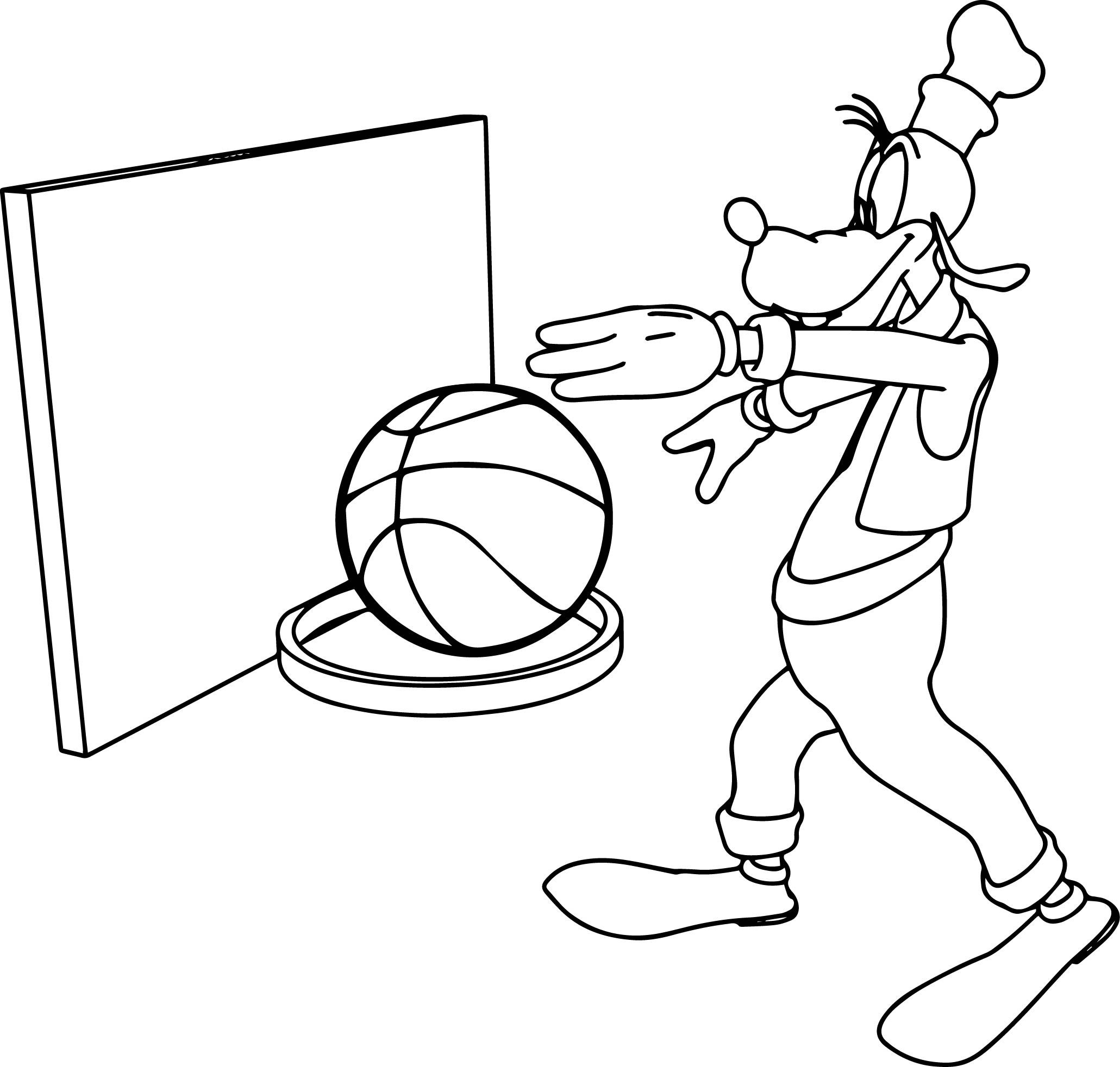 Awesome Goofy Basketball Coloring Page Sports Coloring Pages Coloring Pages Pokemon Coloring Pages [ 1964 x 2061 Pixel ]