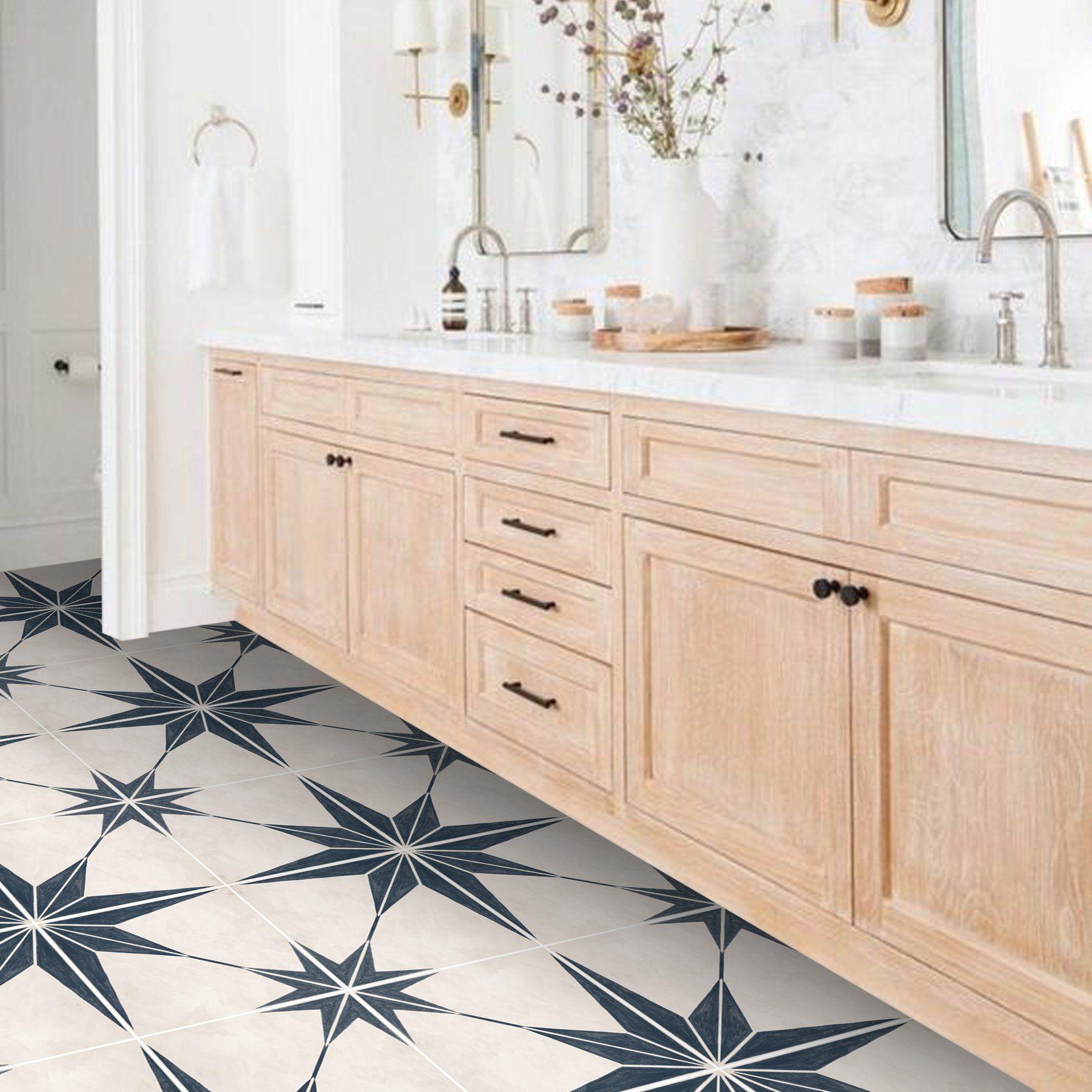 Astra In Navy Floor Sticker Floor Stickers Vinyl Tile Vinyl Flooring