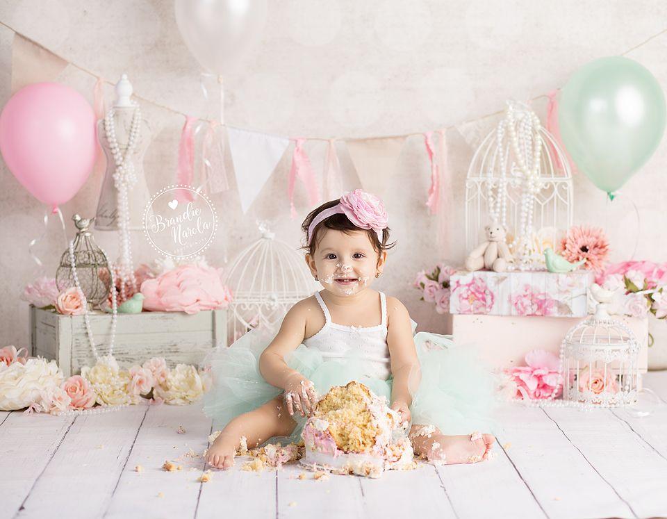 Cake Smash, girl cake smash, vintage cake smash, pink and mint cake smash,  smash cake, girly cake smash… | Smash cake girl, Baby cake smash, 1st  birthday cake smash