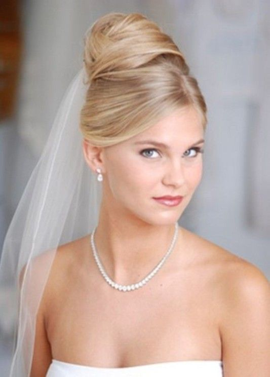 Wedding Hairstyle with Veil and Tiara