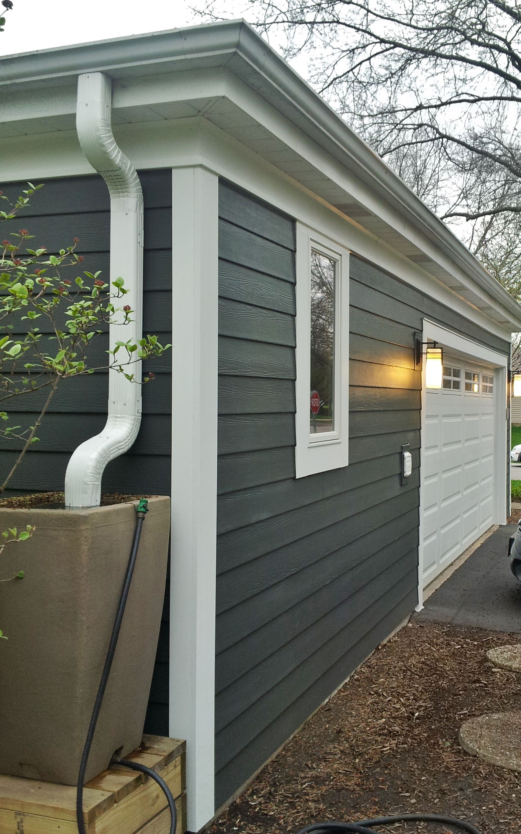 James Hardie Fiber Cement Siding Iron Gray Installed By Opal Enterprises Inc In Wheaton Il Clapboard Siding Exterior Paint Colors For House House Exterior