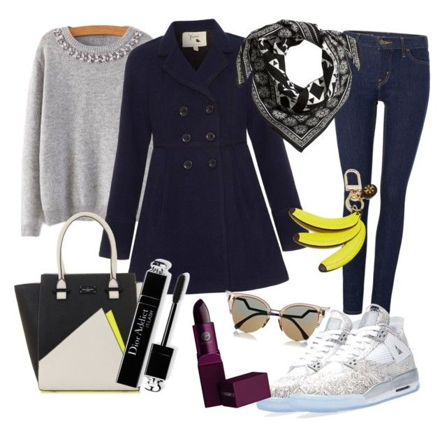 Neutros y acentos by insolita on Polyvore featuring moda, Yumi, Levi's, H&M, Tory Burch, Fendi, Lipstick Queen and NIKE