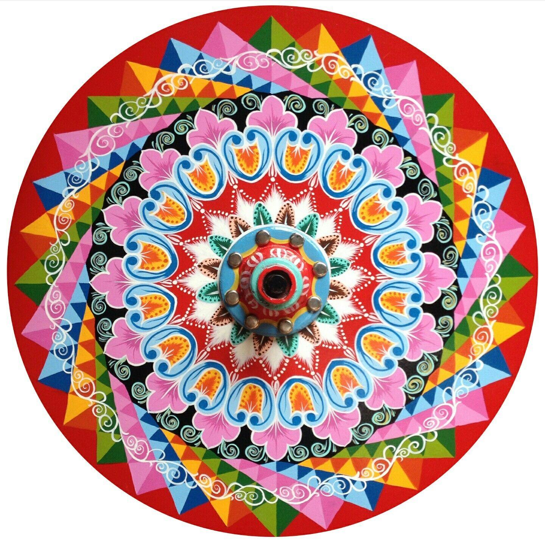 Rueda Carreta Tipica Costa Rica Mandala Drawing Costa Rica Art