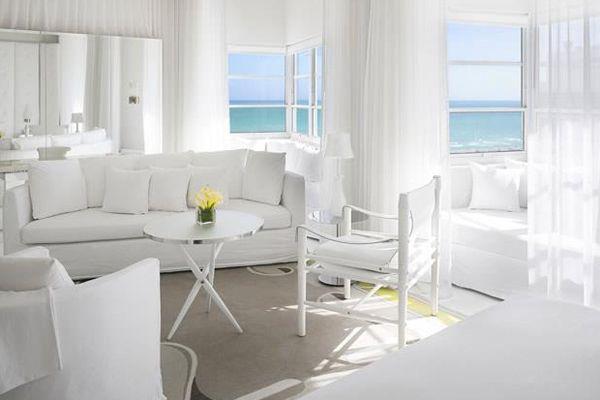 All white room design in the delano hotel miami delano for Delano hotel decor