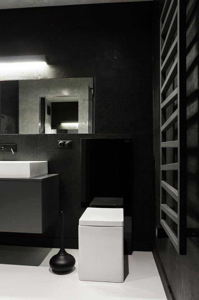 Badezimmer monochrome farben wand heizk rper design for Badezimmer 5 quadratmeter