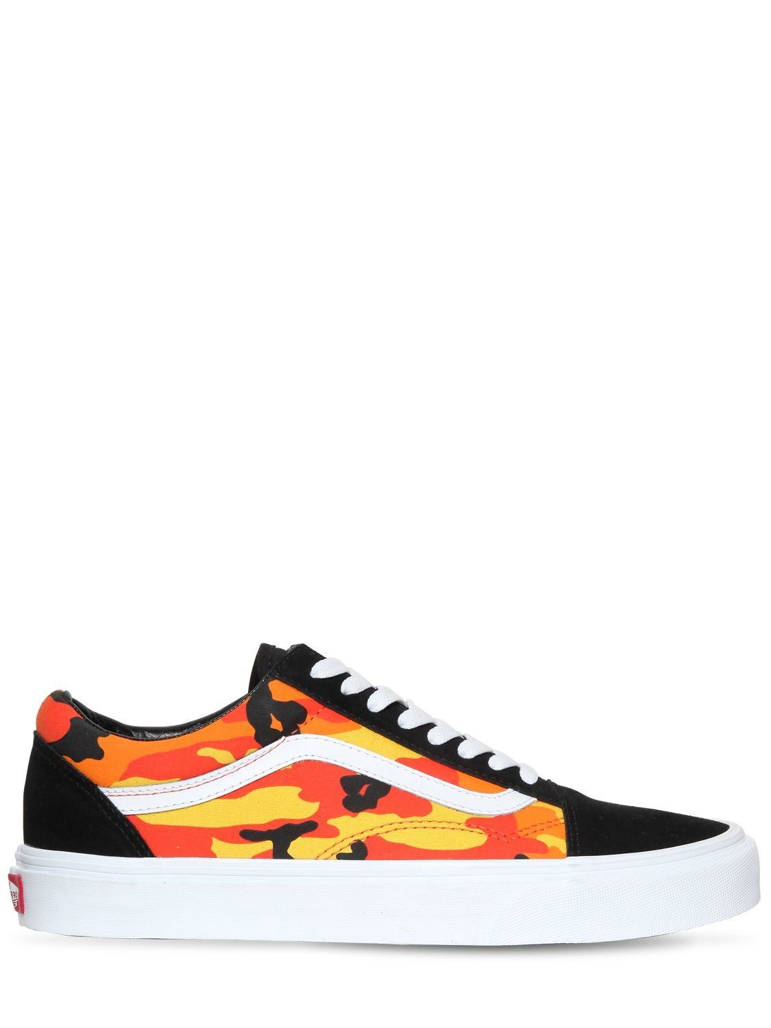 Old Skool Pop Camo Sneakers In Multicolor With Images Vans Old
