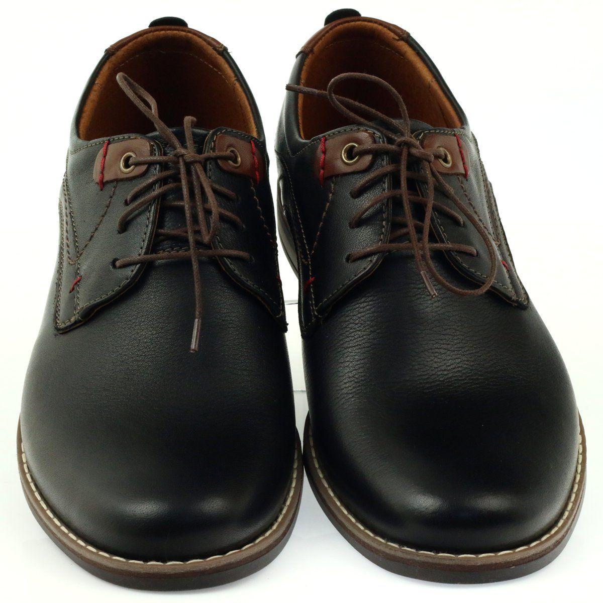 Riko Buty Meskie Polbuty Wiazane 842 Czarne Brazowe Shoes Men S Shoes Leather Heels