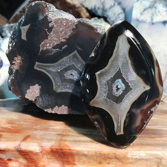 Rare Turkish Banded Agate cabochon  by buyulutas on Etsy