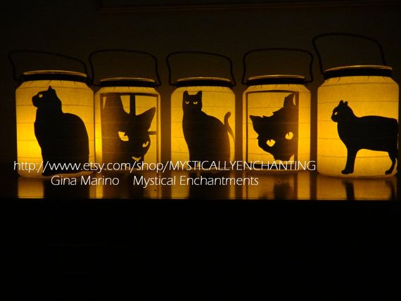 Halloween Lantern BLACK cat Series Black, Sale!! and Listing