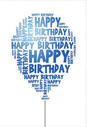 Happy Birthday Balloon Birthday Card Free Greetings Island Happy Birthday Text Free Printable Birthday Cards Birthday Card Printable
