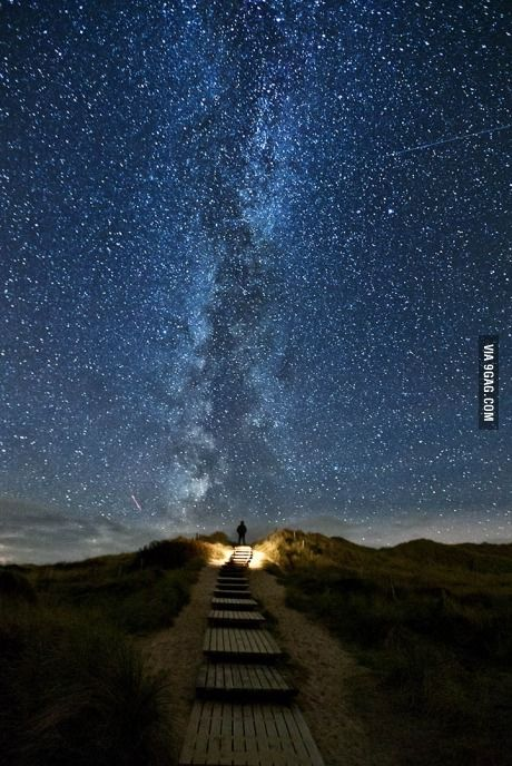 The rare moment when stars align on the small island of Sylt in northern Germany.
