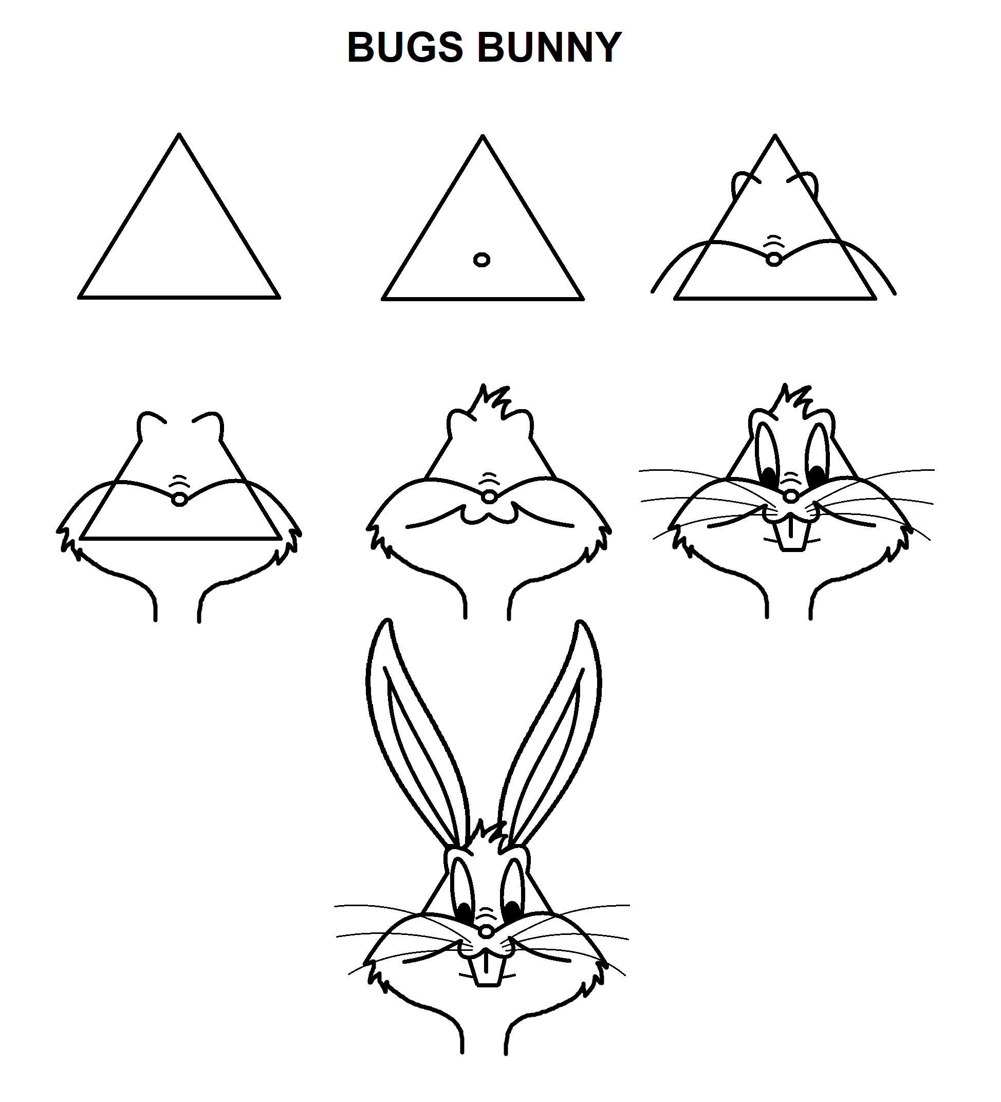 Bugs Bunny Bugs Bunny Drawing Bunny Drawing Bugs Drawing Personalize it with photos & text or purchase as is! bugs bunny bugs bunny drawing bunny