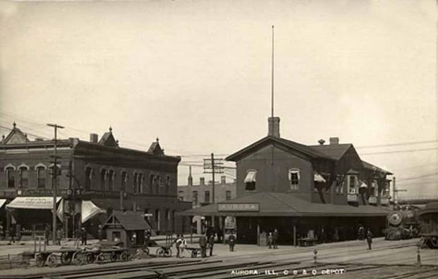 C B Q Depot Aurora Il 1900s Photo Aurora Photo Burlington