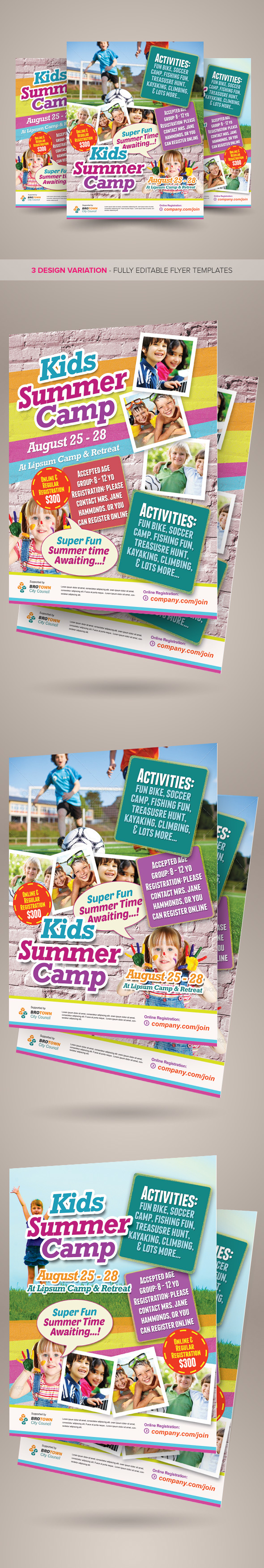 Kids Summer Camp Flyers Vol.02 on Behance   MMO   Pinterest   Nidos ...