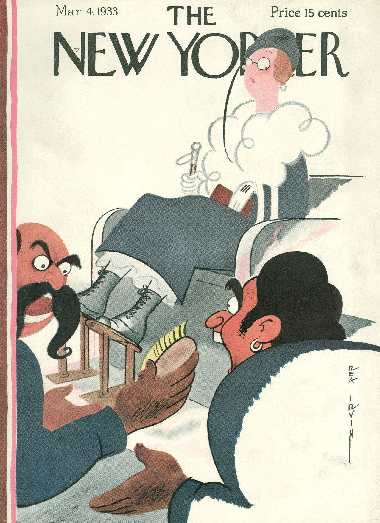 The New Yorker - Saturday, March 4, 1933 - Issue # 420 - Vol. 9 - N° 3 - Cover by : Rea Irvin