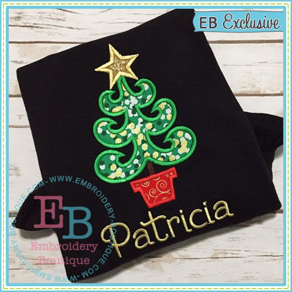 Whimsy Tree Applique | E -- Christmas | Pinterest