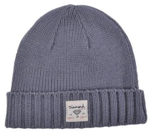 cbbb385d16e NWT Diamond Supply Co. Snow Heather Fold gray beanie cap hat Urban skate LA  NY  diamondsupplyco  Beanie