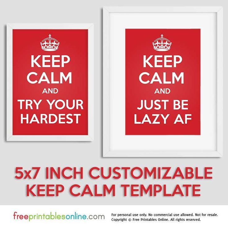 Image Result For Keep Calm Bookmark Templates