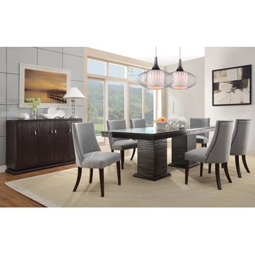 Homelegance Chicago 8 Piece Pedestal Dining Room Set In Deep Best 8 Piece Dining Room Set 2018