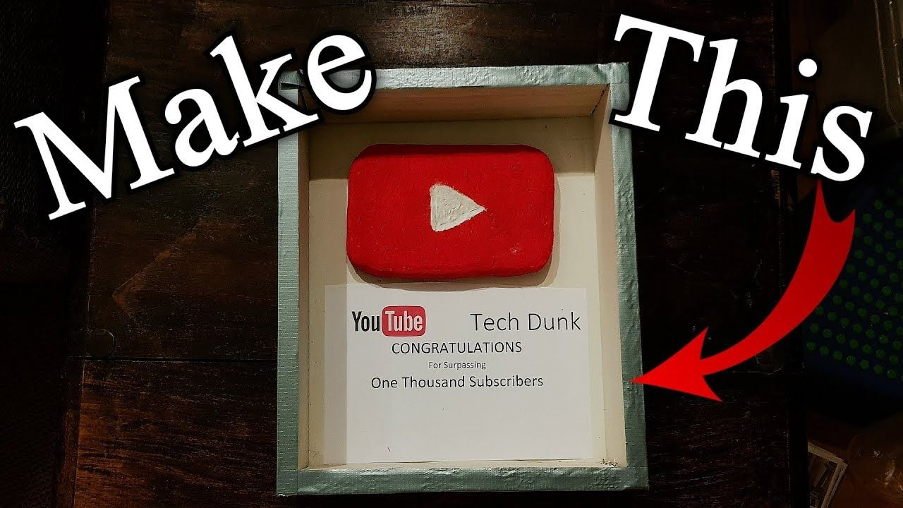 My self made Play Button from YouTube! (guide included if