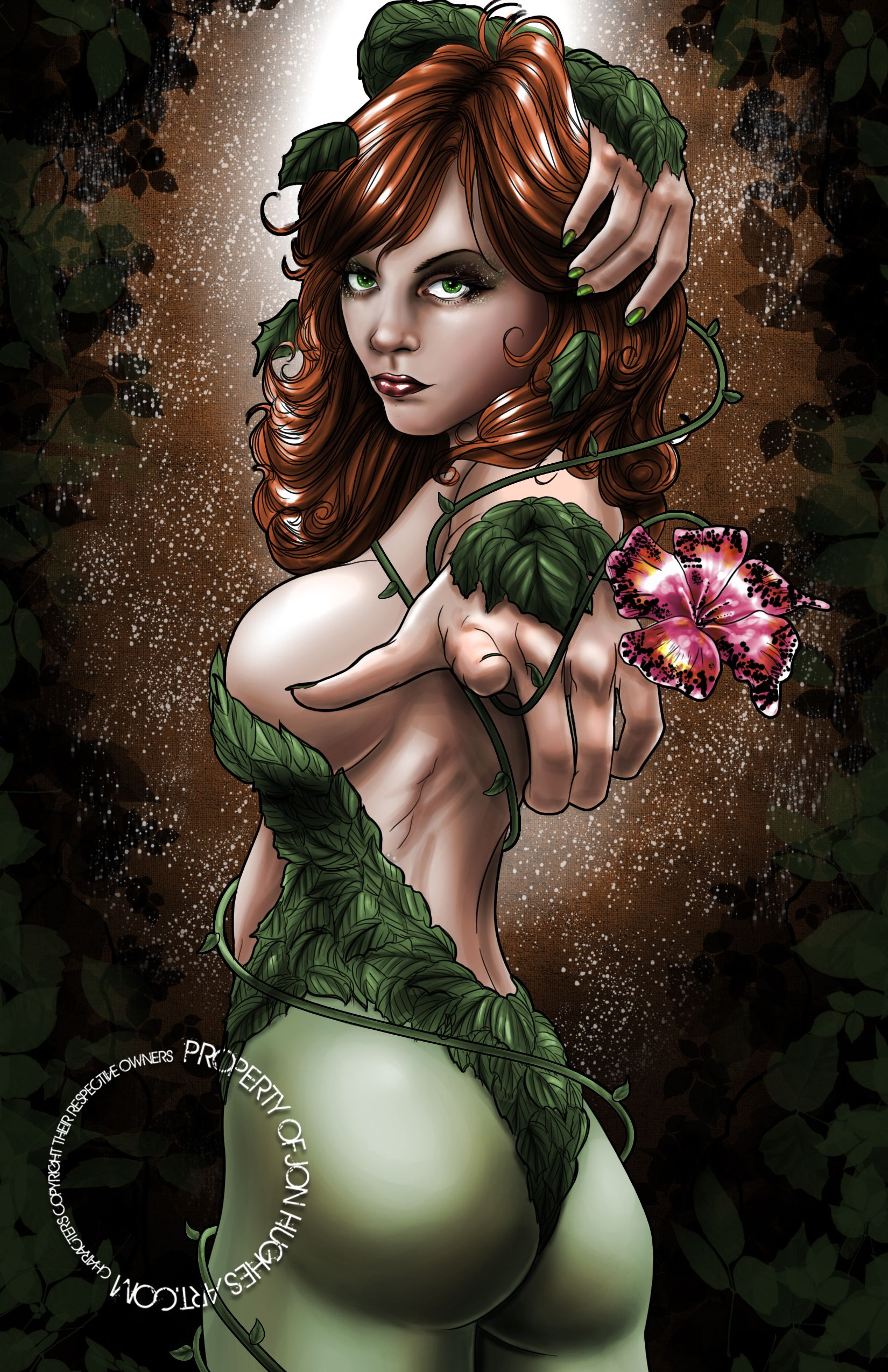 Awesome! #poisonivy #batman #dccomics #jonhughes  11 x 17 high quality cardstock, acid free art print signed by Jon Hughes. Print will not have watermark. If you want it personalized, leave your request in a note during purchase.