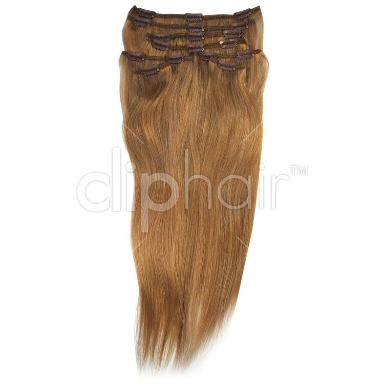 Full Head Clip In Hair Extensions Colour Strawberry Blondeginger