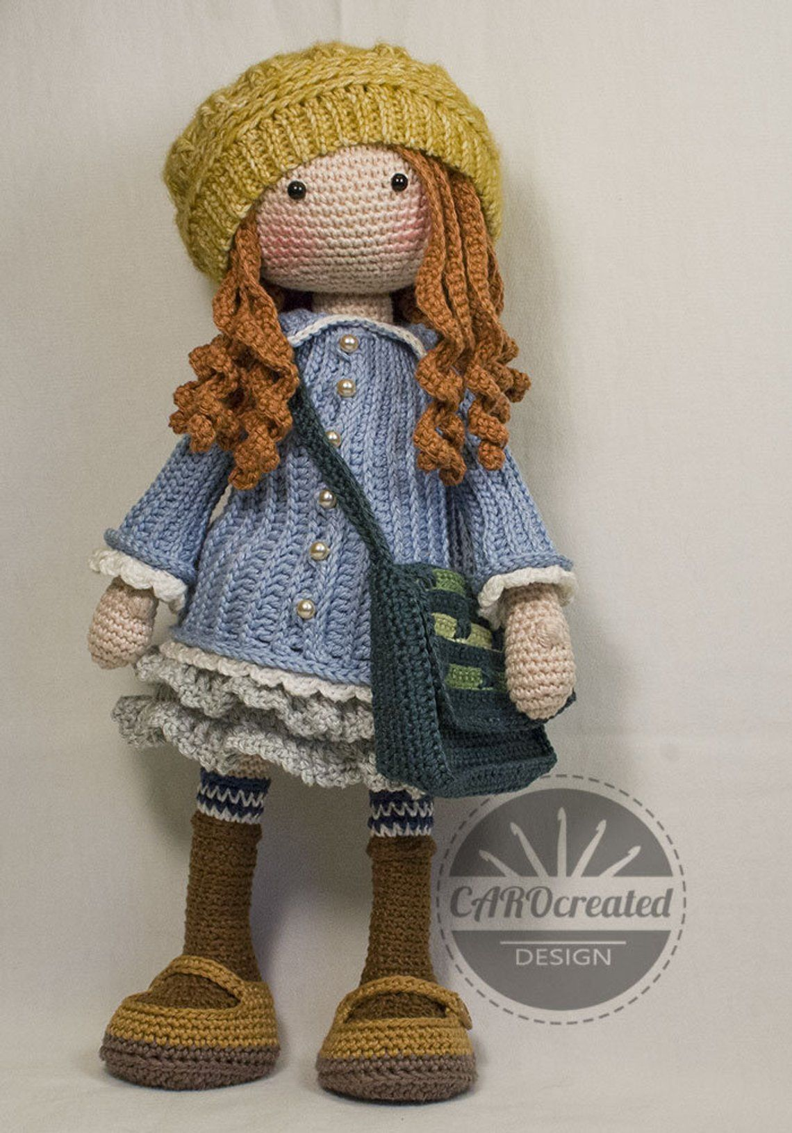 Crochet Pattern for Doll SMILLA, pdf (Deutsch, English, Français, Nederlands, Español, Italiano)