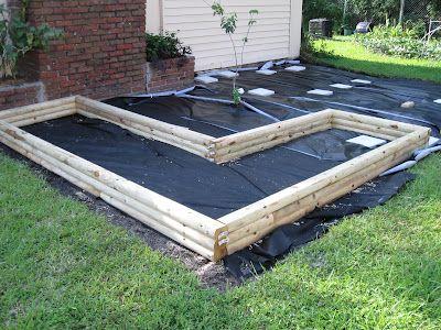 How To Build A Garden Part 2 Landscape Timbers Landscape