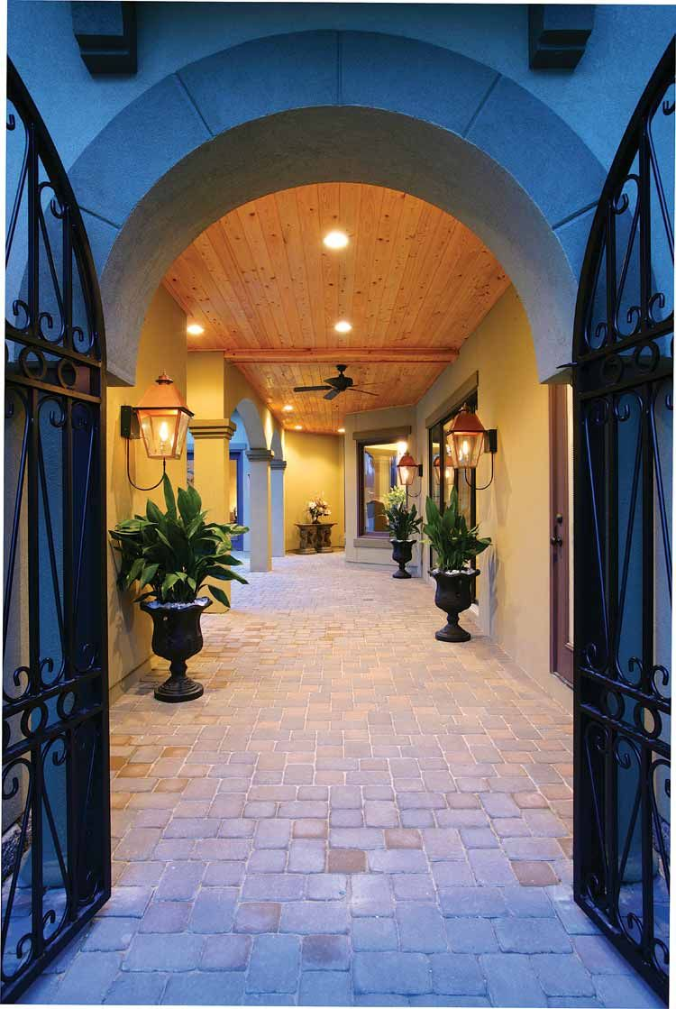 Home Plans Homepw09238 3 031 Square Feet 4 Bedroom 5 Bathroom Mediterranean Home With 2 Mediterranean Style House Plans Courtyard House Mediterranean Homes