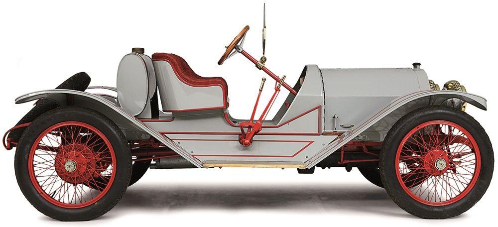 Een typische Amerikaanse sportieve roadster uit het begin van de twintigste eeuw.