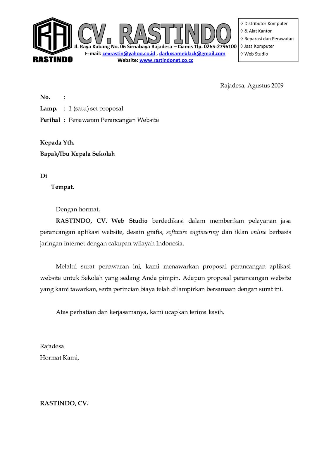 Contoh Cv Bahasa Inggris Housekeeping Surat Desain Proposal