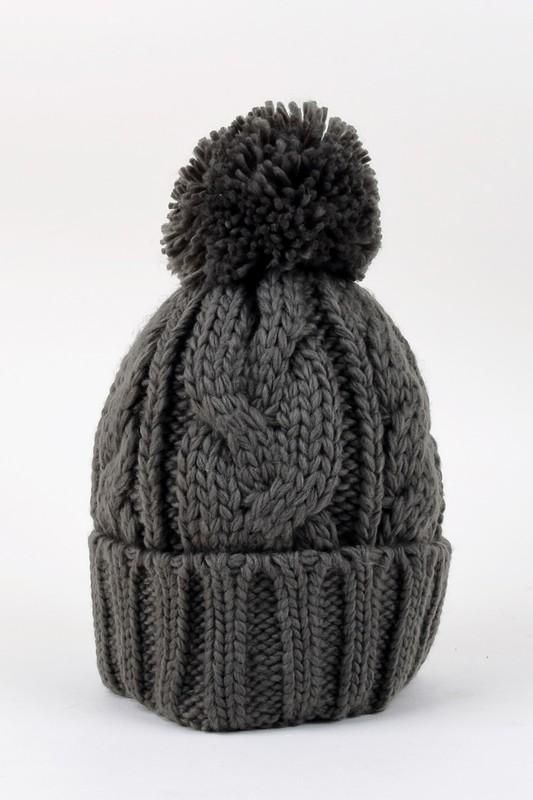 a6c1ca29574b49 Soft cable knit beanie with pom pom detailing on top. | Products ...