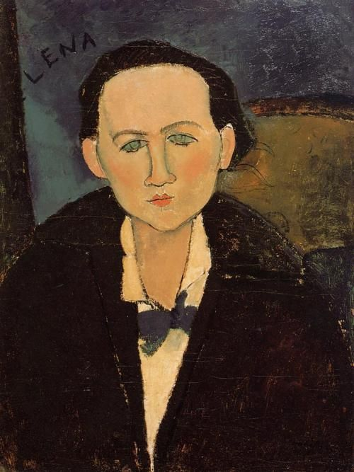 Portrait of Elena Pavlowski, 1917  Amedeo Modigliani