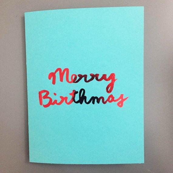 Christmas Bday Cards.December Birthday Card Christmas Birthday Card December Bday
