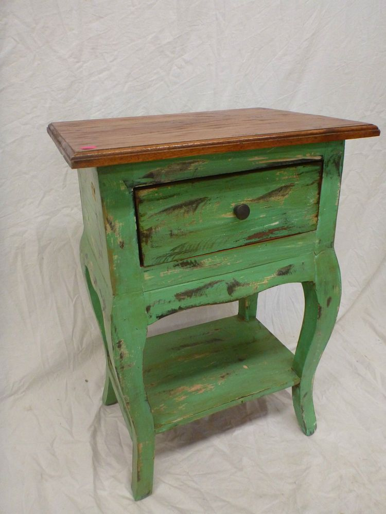 Balinese Recycled Timber Wooden Bedside Lamp Side Table ...