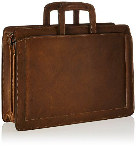Jack Georges Triple Gusset Top Zip, Brown, One Size  The Jack Georges Belting Collection Triple Gusset Top Zip Briefcase is hand crafted from vegetable tanned belting leather that grows in character and beauty as it ages. This classic drop-handle business case features outside open pockets, inside zippered dividers, an easy access organizer, and plenty of room for files and folders. It is the perfect briefcase for the distinguished professional. Pockets: 6 interior slip, 2 interior z..