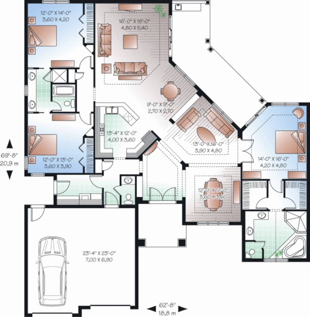Home Design Ipad Etage: Main Floor Plan 23-2224